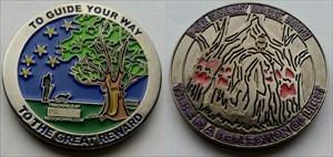 Great Reward Geocoin - Antique Nickel