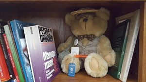 Library Visitor with Orville
