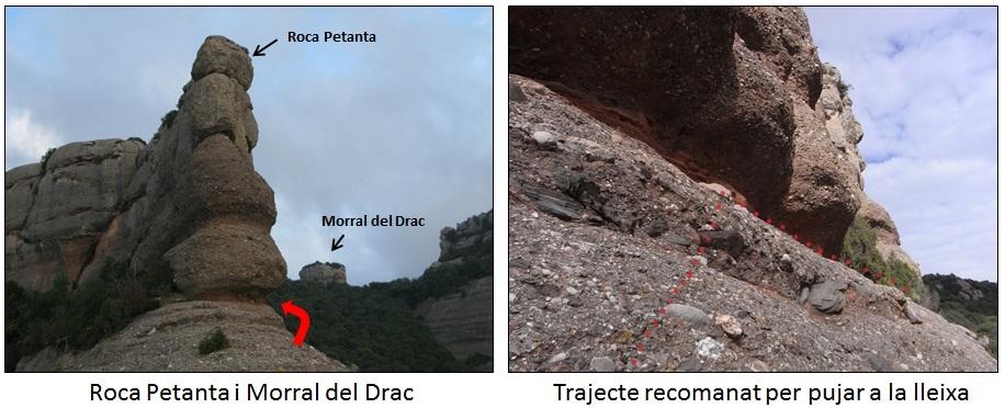 Roca Petanta i Lloc per on grimpar