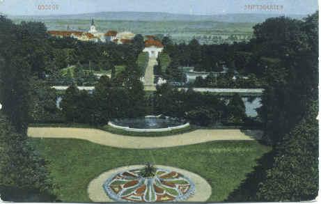 Klášterní zahrada - dobová pohlednice