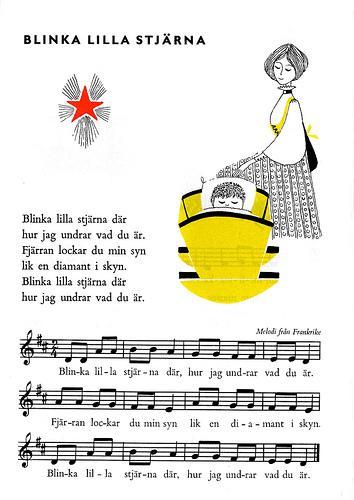 blinka lilla stjärna noter piano