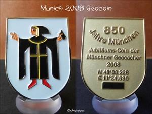 Munich 2008 Geocoin - Gold