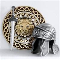 goldenes Schild