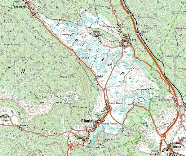 Web Site Map: Planinsko Polje (Earthcache) In Slovenia Created By Vane