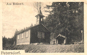 Studánka s kaplí okolo r. 1910