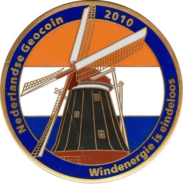 Dutch 2010 Geocoin - front