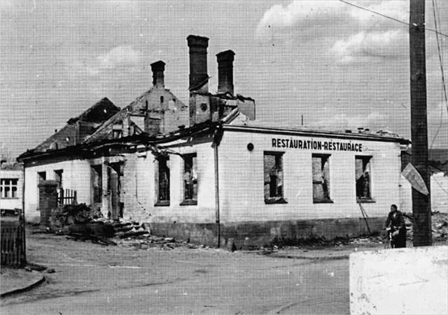 Restaurace Hostýnek po přechodu fronty