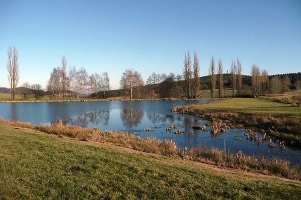 Závěr rybníku se Svatou Markétou