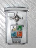 Geocoin Camo Silber Antik