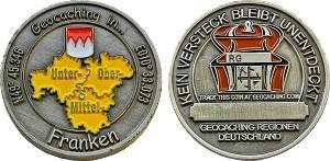 Regions of Germany Geocoin - Franken