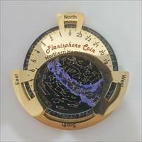 Northern Planisphere Geocoin front