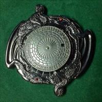 Dragon Spinner Geocoin - black nickel/silver 2T