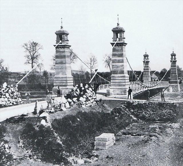 Bau der Argenbrücke