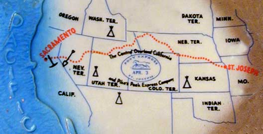 pony express trail challenge map