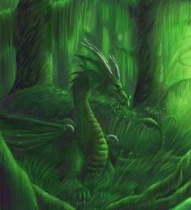drak v lese