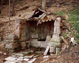 Stav studánky v dubnu 1999