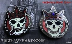 KingzQueen Geocoin - Diabolica (Glow) XLE 50