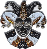 Mardi Gras Masquerade Geocoin - Halloween Edition