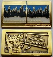 GeoJaanipäev 2016 Mega Event Geocoin - Shiny Gold