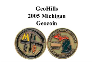 GeoHills Michigan Geocoin #6