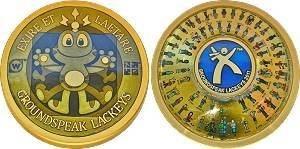 2011 Lackey Geocoin - Gold