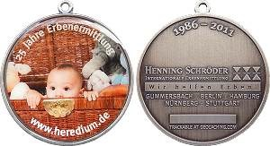 Heredium 25th Anniversary Geocoin
