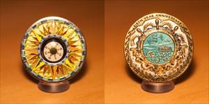 Compass Rose Geocoin 5th Anniversary