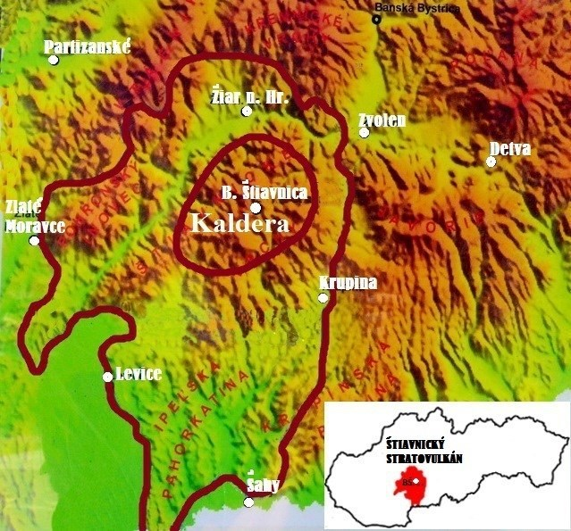 Image result for štiavnický stratovulkán