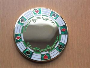 Poker Chip Geocoin - Gold (Vorderseite)