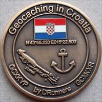 Croatia Caching Geocoin front