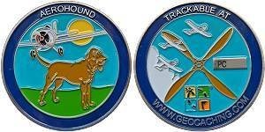 Aerohound Personal Geocoin