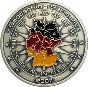 Germany 2007 Series 1 Geocoin antik silber front