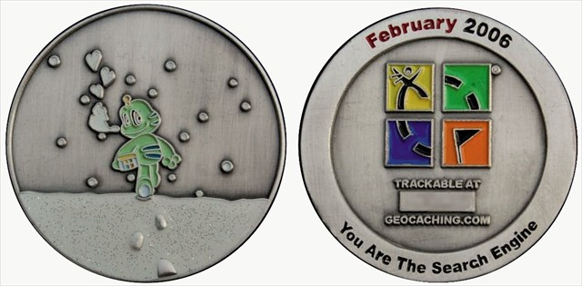 front and back side of the geocoin