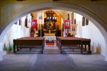 Interiér kostela sv. Martina