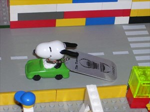 Snoopy cruizin' in Lego Land!