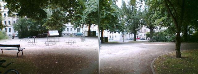 Kleinpark II in der Corinthstraße