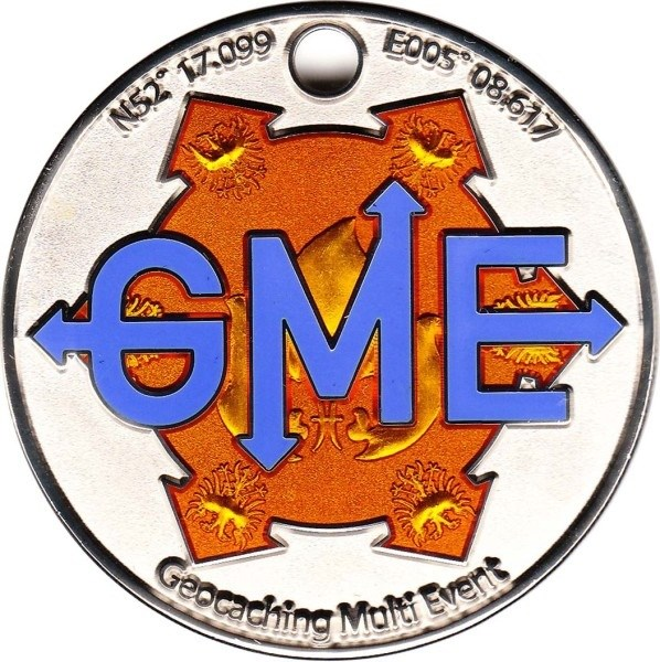 Picture: front side of the geocoin