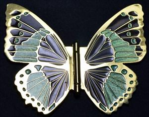 Butterfly Geocoin - Gold