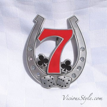 TB344CM) Travel Bug Dog Tag - 7 - My lucky number!