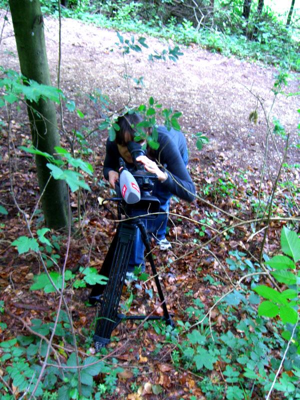 Die Redaktorin als Kamerafrau