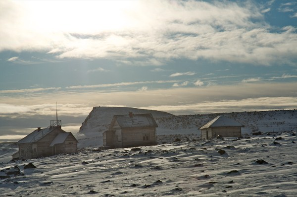 Abandoned astronomical station on Henrietta Island