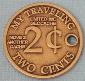 My Traveling 2 Cents Geocoin III