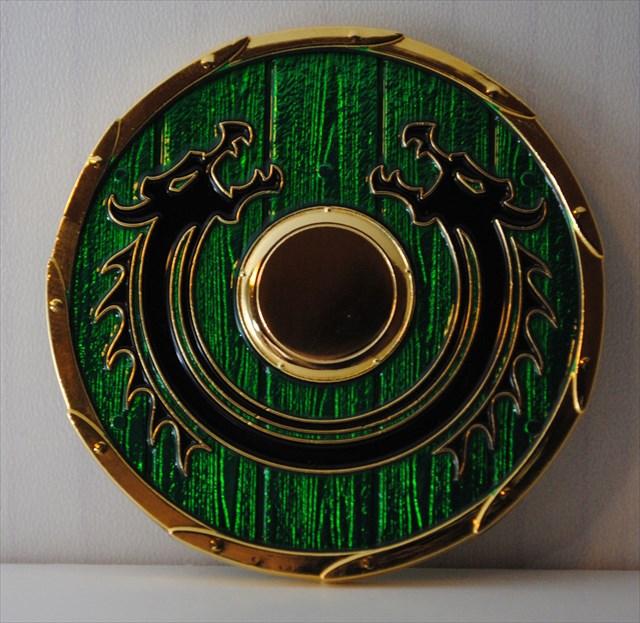 Tb64xaa Viking Dragon Shield Geocoin Viking Shield Green Geocoin