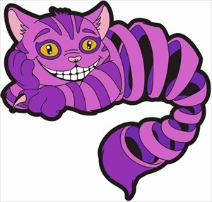 Cheshire Cat Purple Mirror