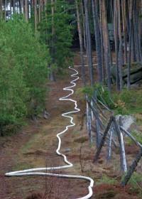 Hadice stoupající k vrcholu