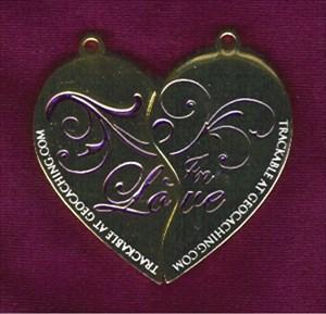 2 Hearts in Love Geocoin (front)