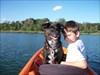 Me & Lexi (geodog) on the Kayak between #4 & #5