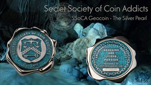 SSoCA Geocoin - The Silver Pearl