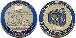 Connecticut Geocoin