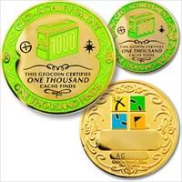 01000 Finds Geo-Achievement Geocoin